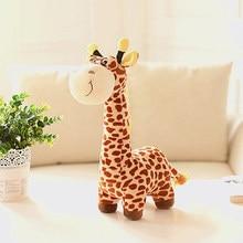 about 38cm cartoon brown giraffe plush toy soft doll baby toy birthday gift,Xmas gift c831