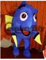 Custom Made Nemo Dory Fish Mascot Costumes Blue Fish Cartoon Character Halloween Cosplay Mascot Costume