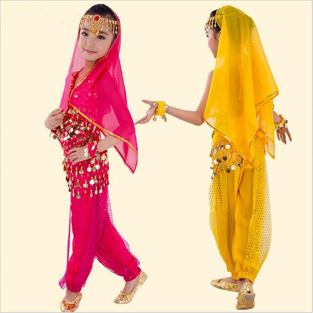affbccfbb1a2 20  Chiffon Material Children Belly Dance Costumes   Kids Girls ...
