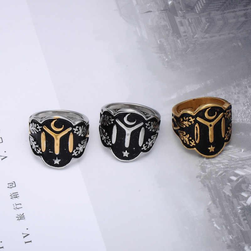 3f185ec2bfa ... Kayi Obasi Flag Ottoman Empire Rings Men Stainless Steel Men Single  Vintage Ring Fashion Ottoman Empire ...