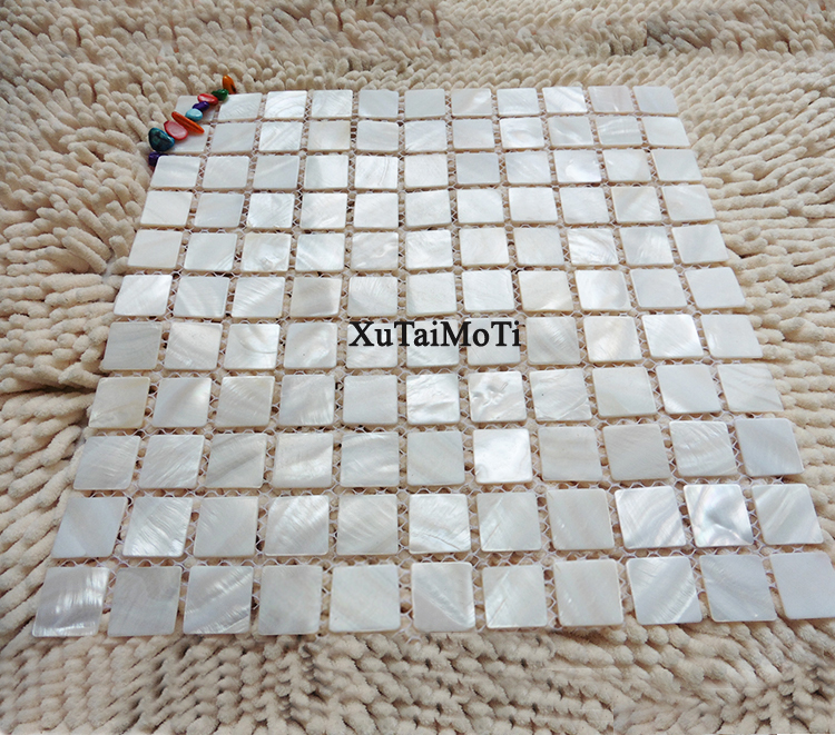 11pcs white 25mm square shell mosaic tile mother of pearl 11pcs white 25mm square shell mosaic tile mother of pearl hotel spa wallpaper kitchen backsplash bathroom tile home improvement ppazfo