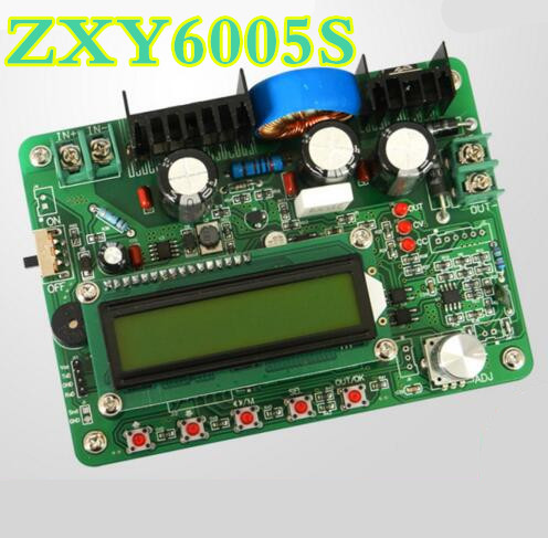 5pcs/lot  ZXY6005S voltmeter Power Supply Module Constant Voltage Current volt meter ammeter With Heat Sink 0-60V 0-5A 5pcs zxy6005s upgraded version zxy6005 constant voltage current power supply module with heat sink voltmeter ammeter 60v 5a