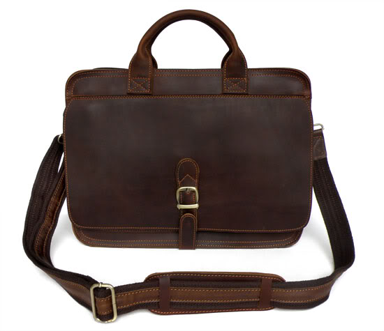New Genuine Leather Fashion Classic Men's Business Handbags Briefcases  Messenger Bag 6020Q-2