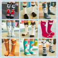New Arrival 2-6 Years Kids Cotton Girls Knee Socks For School 16 color Cartoon Anime Chlidren Soft Korean Autumn Stuff