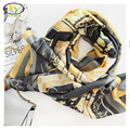 1PC 2017 New Arrival Europe Style Silk Satin With Pendant Women Thin Scarf Summer Woman/Man Fashion Long Shawls