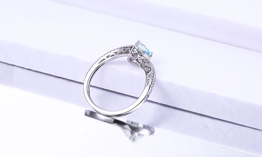 silver blue topaz rings CASR01612SC-1 (5)