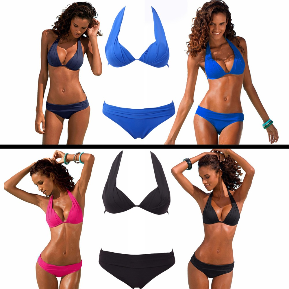 2017 New Sexy Halter Top Bikinis Women Swimwear Push Up Retro Female Swimsuit Bikini Set Beachwear Bathing Suits Biquini new sexy halter top bikinis women swimwear push up retro female swimsuit bikini set beachwear bathing suits biquini for girls