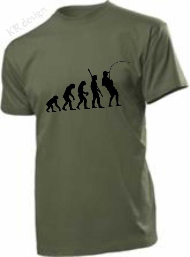 Evolution Ape g Man with Rod T shirt Angling Anglers Top Men 39 S T Shirts Summer Style Fashion Swag Men T Shirts free shipping in T Shirts from Men 39 s Clothing