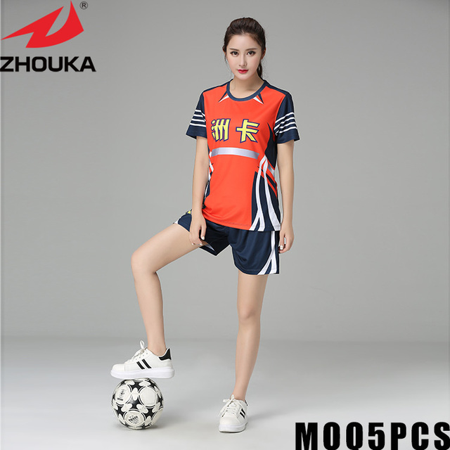 4534322d637 2019 polyester soccer jersey customize women plain soccer jersey Sports  clothes breathable lady soccer jersey sets girls