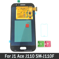 100% Tested Working AMOLED LCDs For Samsung Galaxy J1 Ace J110 SM J110F J110H LCD Screen Display Touch Digitizer Assembly