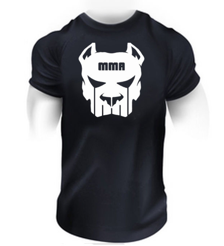 MEN T SHRIT mma Fighting Men Bodybuilding Tee Shirt New Summer Top Mens Black Short Sleeve Cotton Shirt Custom Print Tees