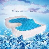 Memory Foam Gel Seat Cushion Non Slip Back Pain Sciatica Relief Chair Cushions for Home Office Car HTQ99