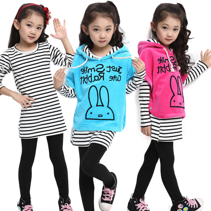 Aliexpress.com : Buy Girls baby clothes 4 11 year old girl three ...
