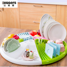Free shipping Functional ABS kitchen dryer rack shelf kitchen tools cup bowl tableware storage holder
