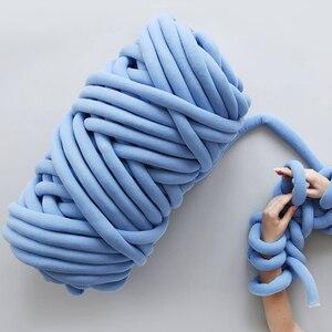 Image 4 - Новое ручное плетеное одеяло 24 м, круглая пряжа из крупной ткани, шерстяная пряжа для ручного вязания «сделай сам», домашняя антихолодная пряжа