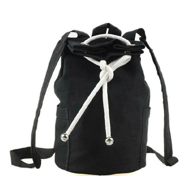 70738212e36 placeholder Drawstring Canvas Bucket Bags Backpacks for Teenage Boys Men s  Outdoors Sports Football Basketball Storage Cycling Bags
