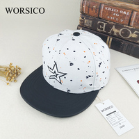 WORSICO Hot Sale Brand Baseball Caps Women 2017 Summer Star Flat Caps For Men Snapback