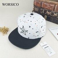WORSICO Hot Sale Brand Baseball Caps Women 2017 Summer Star Flat Caps For Men Snapback