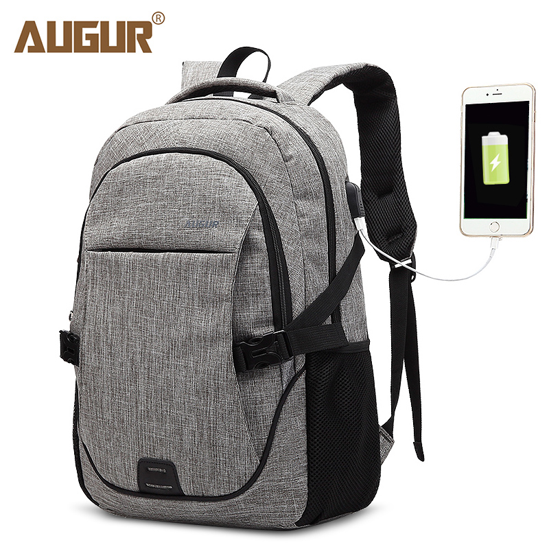 AUGUR Fashion Backpacks USB Charging For Men Women Bag High Quality Backpack Casual Travel Teenager Student back to School Bags