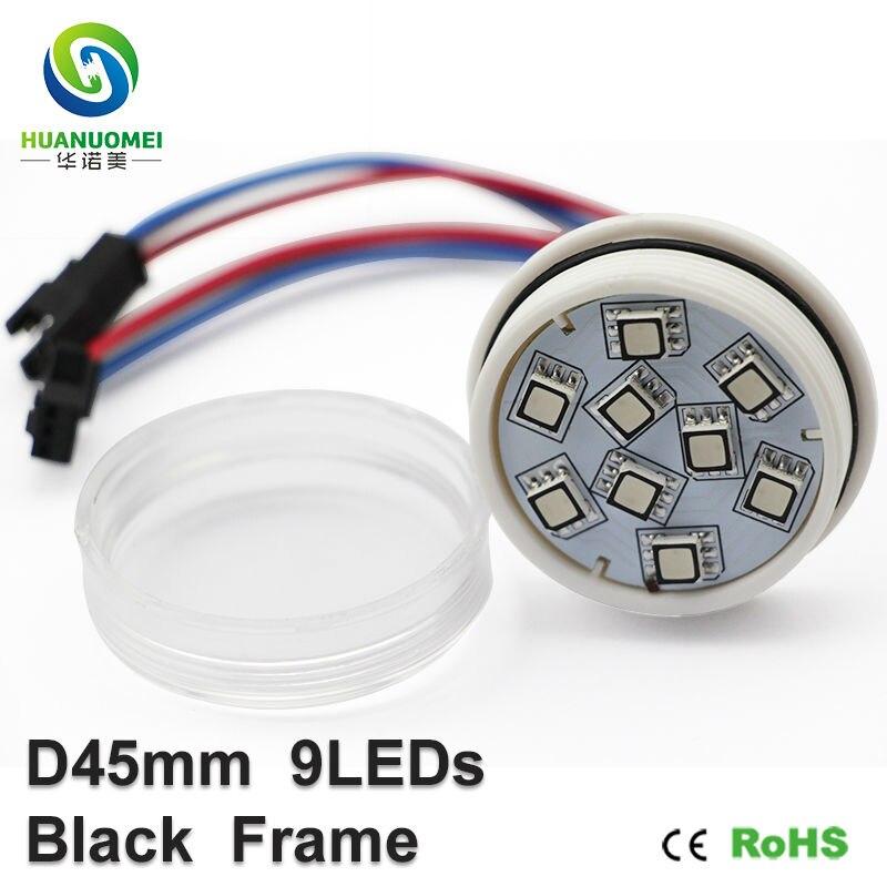 addressable 45mm 9LEDs UCS1903 led pixel light digital waterproof smart pixel rgb led module lights 5050