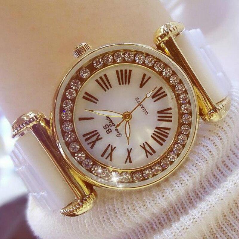 Women Quartz Watch Waterproof White Ceramic Watches Luxury Brand Dress Wristwatches Clock For Ladies relogio feminino onlyou brand luxury fashion watches women men quartz watch high quality stainless steel wristwatches ladies dress watch 8892