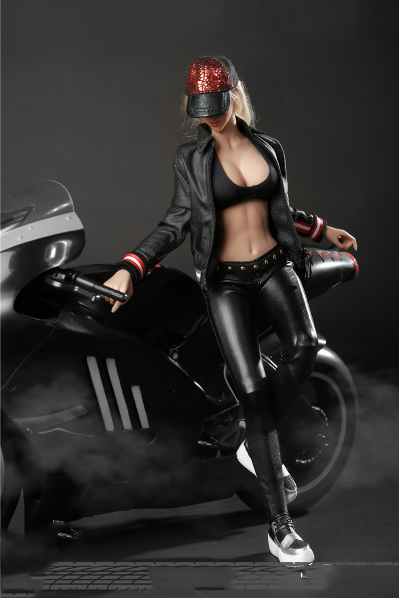 1/6 Scale FG051 หัวรถจักรผู้หญิงสีดำและหนังสีทองชุดรุ่นสำหรับ 12''Figures ร่างกาย-ใน ฟิกเกอร์แอคชันและของเล่น จาก ของเล่นและงานอดิเรก บน   1