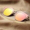 Revestimento Revo Reflexivo Colorido Óculos De Sol Das Mulheres Dos Homens Óculos de Condução Espelho Óculos de Sol Masculino Feminino Marca 2016 Pontos Mulheres