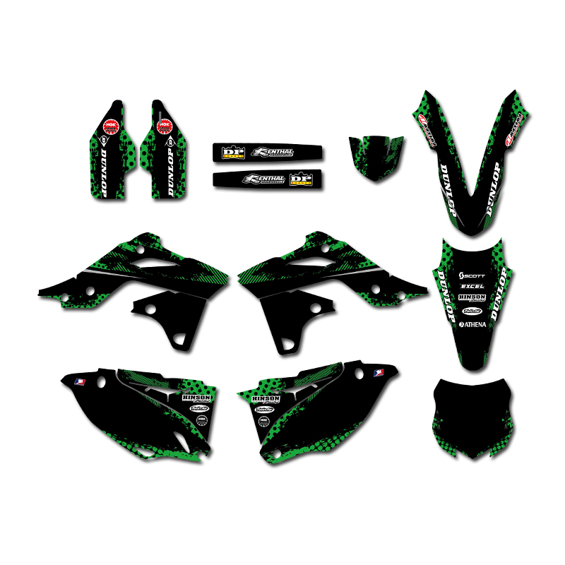 New Style 0460 Power TEAM GRAPHICS BACKGROUNDS DECALS STICKERS Kits For Kawasaki KX250F KXF250 2013 2014