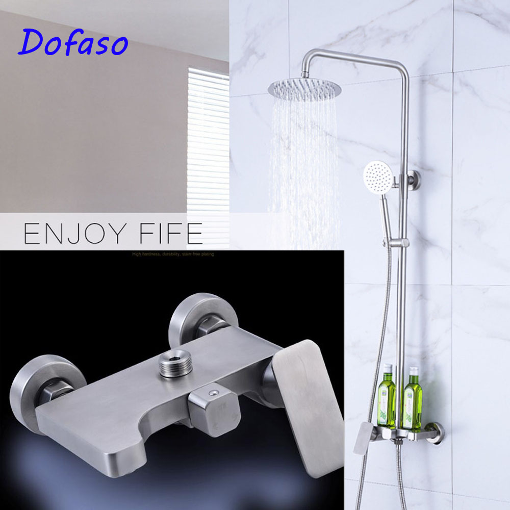 Dofaso shower faucet Bathroom adjustable wall mounted shower set 304 ...