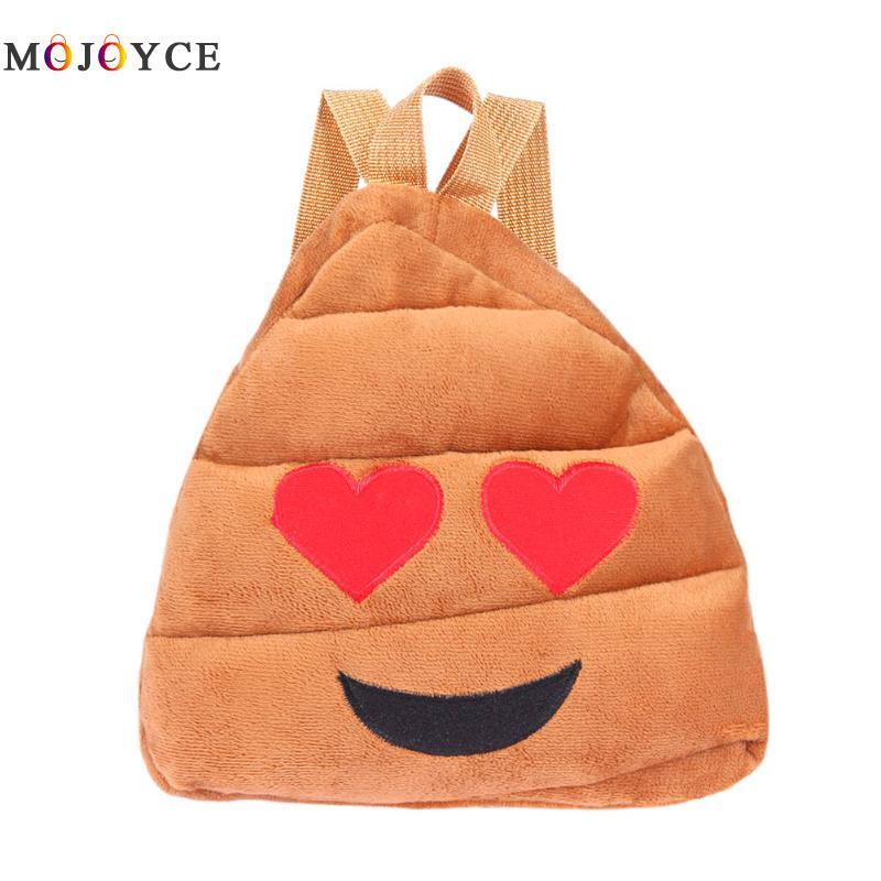 Fashion Face Expression Plush Toy Children Backpacks for Teenage Girls Schoolbag Girl emoji Backpack Mochila School Bags