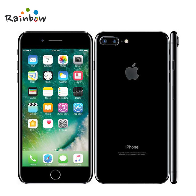 """Original Apple iPhone 7 Plus Factory Unlocked Mobile Phone 12MP Two Camera Wide-Angle 4G LTE 5.5"""" Quad Core A10 3G RAM 128G ROM 1"""