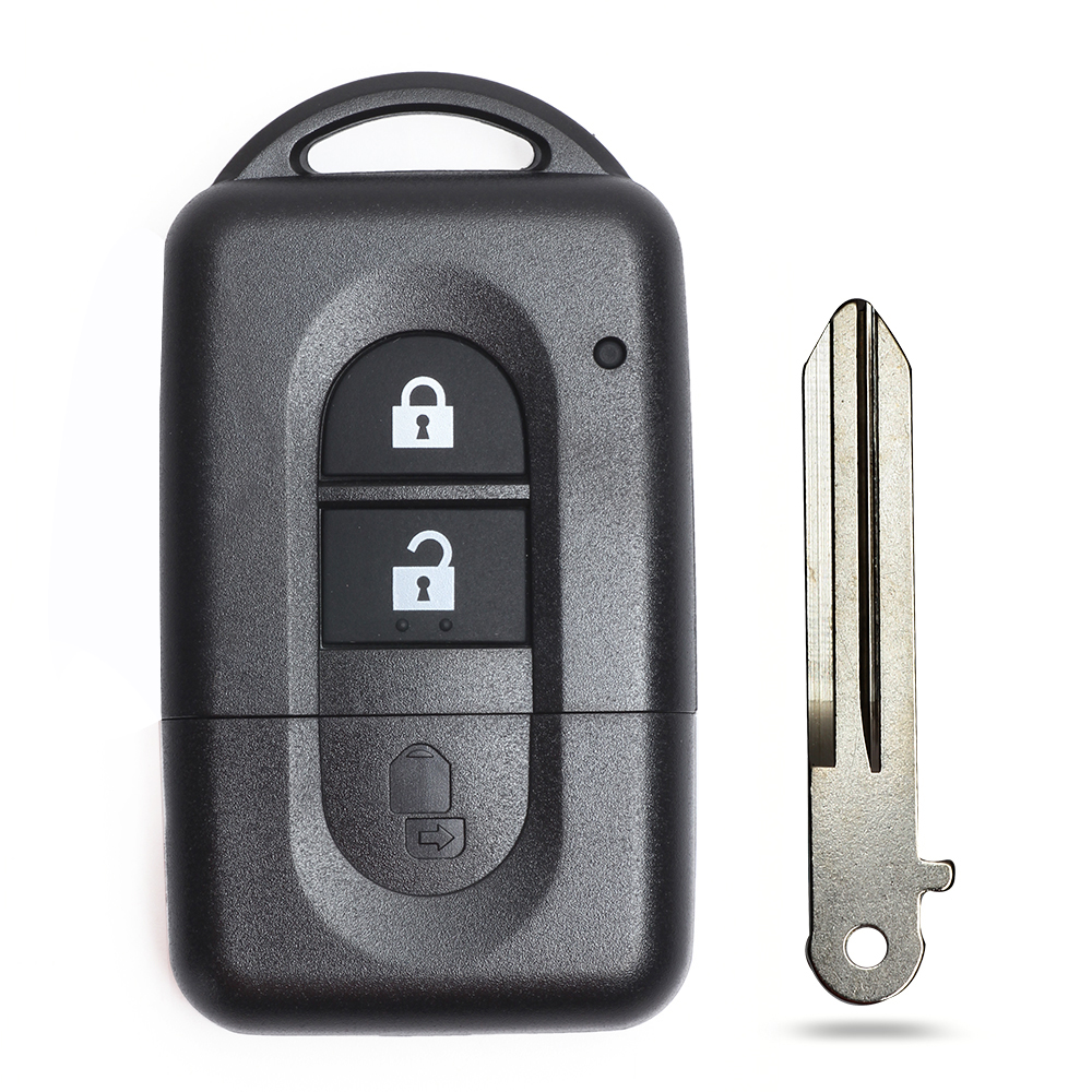 KEYECU 2x For Nissan Micra Xtrail Qashqai Note Tiida Pathfinder Replacement Flip 2 Button Remote Car Key Shell Case Fob