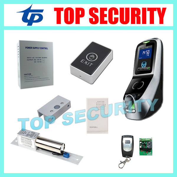 Biometric face and fingerprint access control system ZK multibio700 door access controller with electric lock and power supply tcp ip biometric face recognition door access control system with fingerprint reader and back up battery door access controller