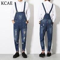 2016 Denim Overalls Male Suspenders Men S Ripped Brand Jeans Casual Hole Blue Bib Jeans Boyfriend