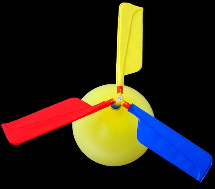 Fly Balloon Aircraft Helicopter For Kids Party Filler Flying Toy Gift 3 Set/Lot  Free Shipping
