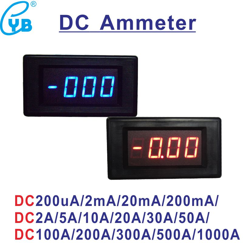 Yb5135d Ac Ammeter And Ct Current Meter Ac 200ua 2ma 20ma 200ma 2a 5a 10a 20a 50a 100a 200a 500a 1000a Lcd Digital Ampere Meter Current Meters