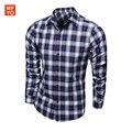 Shirt Men 2016 New Arrival Casual Plaid Shirts Turn-Down Collar Slim Fit Cotton Casual Mens shirt camisa social masculina