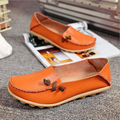 Women flats shoes 2017 spring slip-on breathable moccasin shoes women high quality genuine leather shoes plus size 41 42