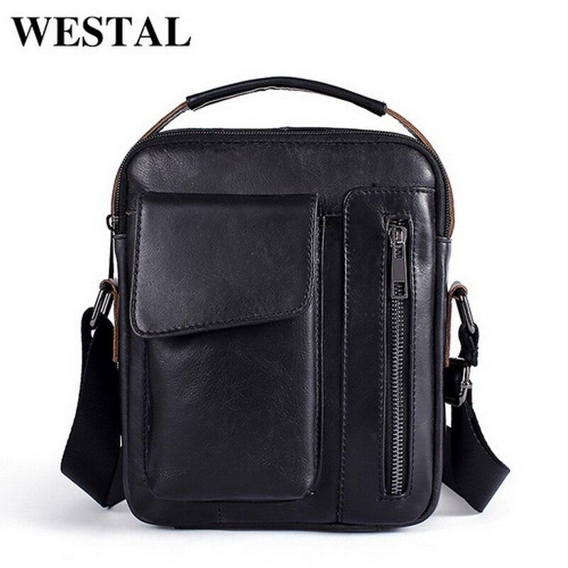 WESTAL масла из натуральной кожи Для мужчин сумки Crossbody сумки клапаном небольшой Ipad мужской сумка Для мужчин кожа сумка для для мужчин 8211 ...