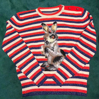 red striped sweater autumn 2018 o neck long sleeve sweater casual cartoon print sweaters and pullovers