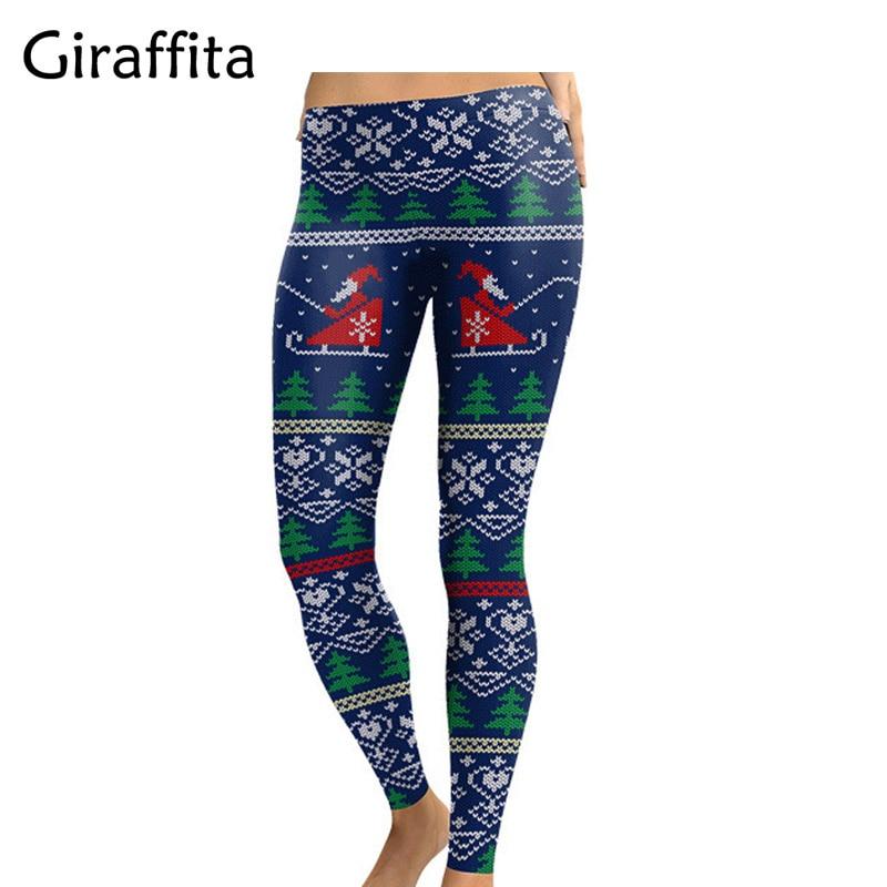 Women Sexy Low Waist Leggings Hip Push Up Pants Christmas Leggins  2017 Autumn Fashion Slim Fitness Leggings