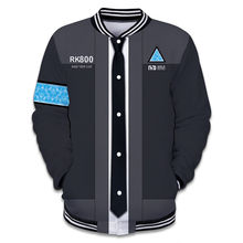 takerlama 2018 Game Detroit: Become Human Connor RK800 Hoodie Sweater Sweatshirt Coat