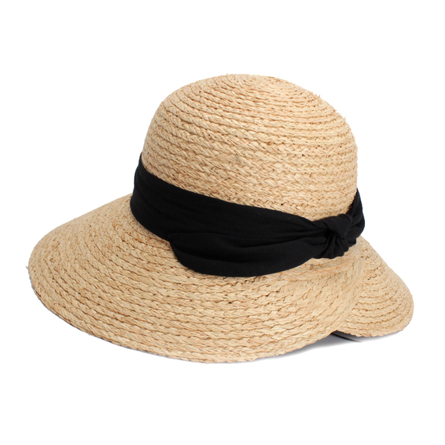 c42fc358204 ROSELUOSI Summer Hat For Women 2018 Summer Wide Brim Straw Hat With Bow-knot  Sun