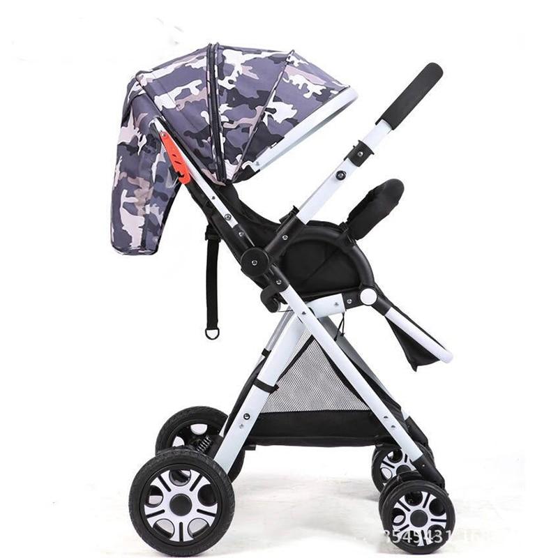 Leggero Bidirezionale Bambino Passeggino Pieghevole Auto Ombrello Può Sedersi Può Mentire Ultra Luce Portatile in Aereo Chidren Carrozzina - 6