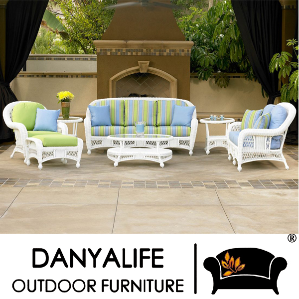 Perfekt DYSF D7504 Danyalife Luxury Pastoral Style Poly Rattan Garden Sofa And Table