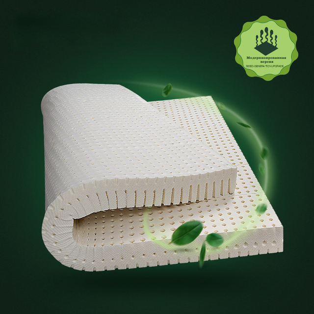 100% Thai Natural Latex Mattress Soft Sleeping Bed Mattresses Single Double Thick Memory Effect Mat