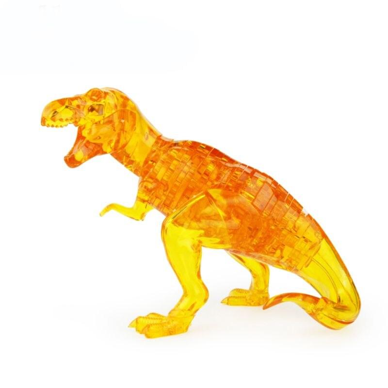 Fine 50pcs/set 3d Crystal Puzzle Dinosaur Jigsaw Model Building Diy Game Children Educational Toys Gift Puzzles Puzzles & Games