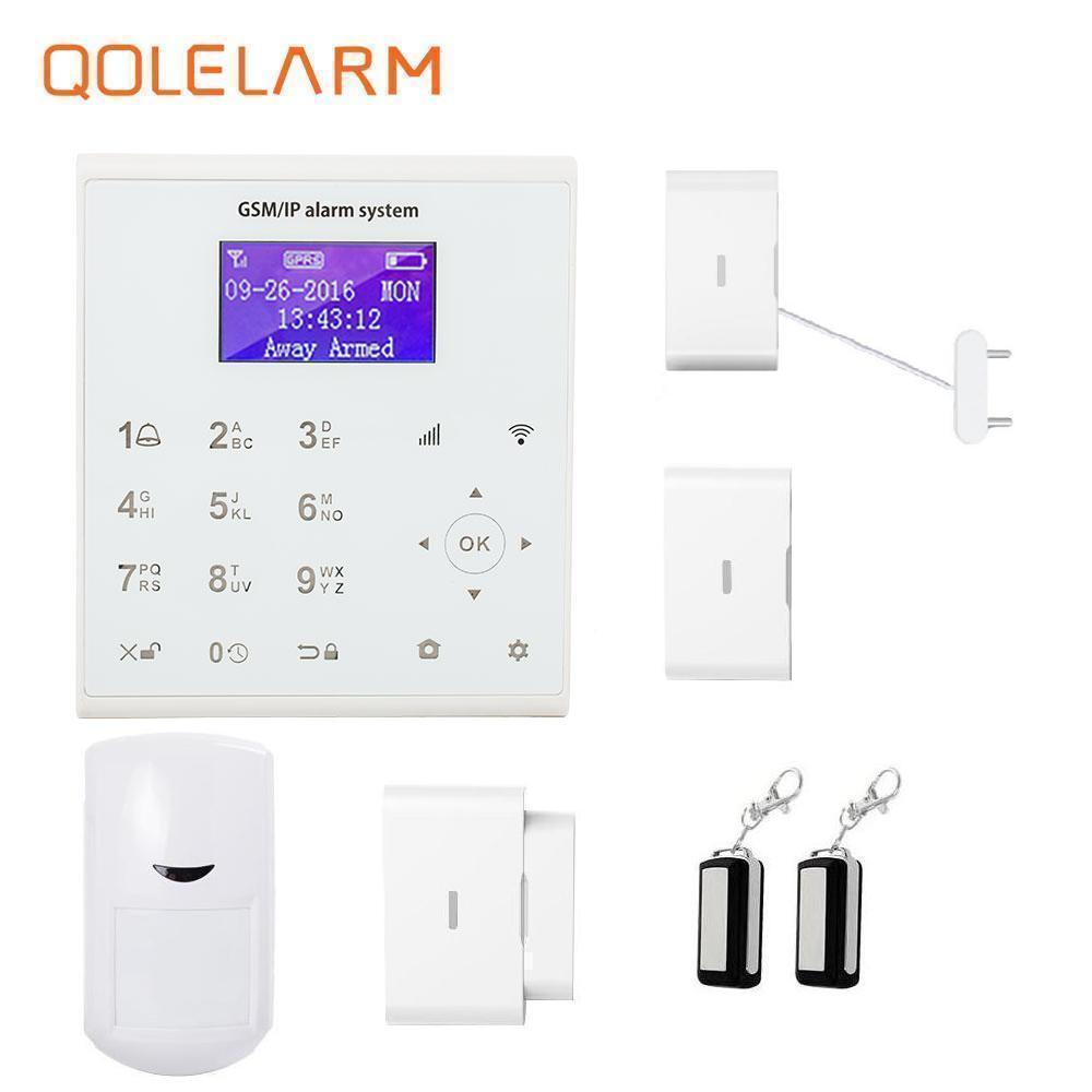 QOLELARM 433mhz Alarm Device WiFi GPRS SMS GSM Alarm System With Fire Smoke Security Kit For Home House arduino atmega328p gboard 800 direct factory gsm gprs sim800 quad band development board 7v 23v with gsm gprs bt module