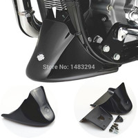 Black Front Bottom Spoiler Mudguard Cover Kit Fits For Harley Sportster 1200 XL Iron 883 2004