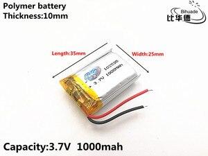 Image 3 - 5pcs/lot Good Qulity 3.7V,1000mAH,102535 Polymer lithium ion / Li ion battery for TOY,POWER BANK,GPS,mp3,mp4